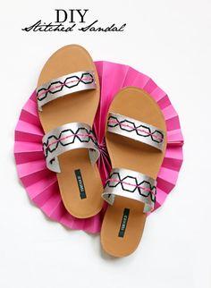 10 Beautiful Embellished DIY Summer Sandal Makeovers
