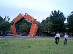 Shipping container sculpture (Japan.)
