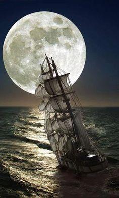 Navegando en la noche.