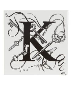 Key Chaos Letter K Tile, Rory Dobner. think i like this for my grands it would be Z3 and the keys since there are 3 of them all starting with a z