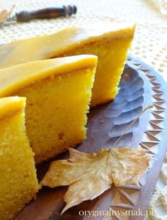 Proste ciasto dyniowe   Oryginalny smak Always Hungry, Pumpkin Recipes, Love Food, Pineapple, Snack Recipes, Chips, Food And Drink, Tasty, Sweets