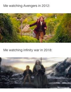 The Avengers, Infinity War. Then and now.