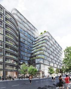 Schmidt Hammer Lassen Architects has won the international competition to design Hästen 21, a 43,000m2 development in central Stockholm, Sweden.
