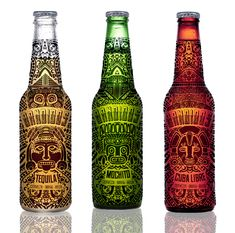 BANDIDOS / flavoured beer labels / Tequila, Mochito, Cuba Libre