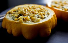 Pattypan Squash Stuffed With Corn - NYTimes.com