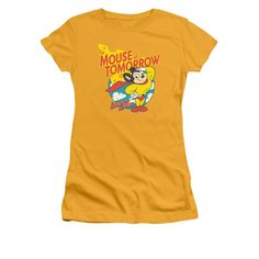 Mighty Mouse Classic Cartoon Mouse Waving Mighty Flag Tee Shirt S-3XL