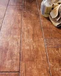 Wood look ceramic tile for the bathroom