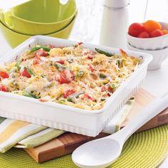 Courge spaghetti et haricots verts gratinés - Soupers de semaine - Recettes 5-15 - Recettes express 5/15 - Pratico Pratique