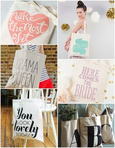 Alphabet bags #cotton #bag #tote