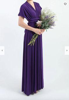 d5f50a39f734 Royal Purple LONG Floor Length Ball Gown Maxi Infinity Dress Convertible  Formal Multiway Wrap Dress Bridesmaid Dress Evening Dress