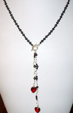 Heart Lariat necklace by Adolina829 on Etsy, $40.00