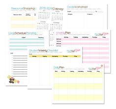 Free homeschool planner mini-kit