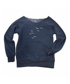 Look at this Navy Seagull Boatneck Sweatshirt - Women on #zulily today!