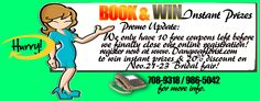 Book and Win Instant Prizes promo update