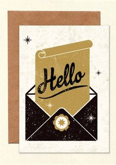 let someone know you're thinking about them with this retro greeting card from British design studio Telegramme. Retro greeting card is designed and printed in the UK. Retro Birthday, Litho Print, Handwritten Letters, Postcard Design, Kraft Envelopes, Retro Design, Letterpress, Illustrators, Retro Vintage