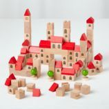 Gothic City block set from Land of Nod. My daughter had a similar set and we used it with her wooden train set to make a townscape. Interactive Books For Kids, Making Wooden Toys, Toy Storage Bins, New Kids Toys, Land Of Nod, Toy Art, Wood Toys, Wooden Blocks Toys, Wooden Building Blocks