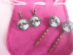 Matching Set Of 1x Pair Moon Earrings And 2x by TheSmileEmporium, $18.00