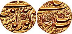 INDIA, Independent States. Sikh Empire. temp. Ranjit Singh. VS 1858-1896 / AD 1801-1839. AV Half Mohur (19mm, 5.85 g, 2h). Amritsar mint. Dated VS [1]877 (AD 1820).