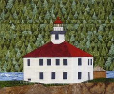 Eldred Rock AK Lighthouse quilt pattern  ON by KarenKuskeQuilts