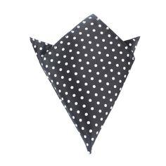 Royal Black Polka Dots Pocket Square by OTAA | Suit Handkerchief & Men's Pocket Squares  | Online Ties and Accessories  Australia | www.otaa.com.au | OTAA