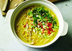 Mulligatawny Soup, a great soup to eat on a cold wet winter's day.