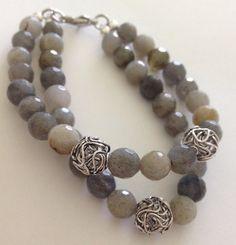 Quartz Gray double strand bracelet on Etsy