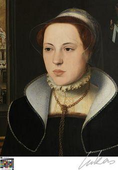 Les blasons ont permis d'identifier l'homme et la femme comme les époux van Eyewerve.