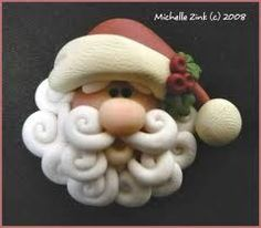 Polymer Clay Santas Google Search