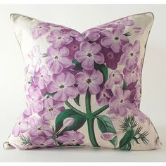 THE WELL APPOINTED HOUSE - Purple Botanical Square Linen Pillow