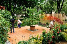 L'interno della stanza giardino Origami, Festival, Patio, Outdoor Decor, Home Decor, Homemade Home Decor, Yard, Terrace, Paper Folding