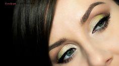 limonkowy makijaż oczu