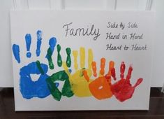 Vatertagsgeschenk Basteln Kinder 2019 Rainbow Family Vatertagsgeschenk Basteln Kinder 2019 Rainbow Family Handprint Canvas vatertagsgeschenkba basteln Canvas Family Arts and Crafts What are arts 038 nbsp hellip Family Art Projects, Family Crafts, Baby Crafts, Toddler Crafts, Children Crafts, Fathers Day Crafts, Valentine Day Crafts, Fathers Day Art, Mothers Day Crafts For Kids