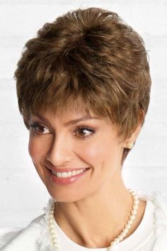 Valentina (Formerly Vision) by Revlon Wigs- Monofilament Wig Medium Hair Styles For Women, Short Hair Styles For Round Faces, Short Hair Styles Easy, Short Hair Updo, Short Hair Cuts For Women, Curly Hair Styles, Grey Hairstyle, Wavy Hair, Teen Hairstyles