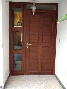 Resultado de imagen de puertas exteriores madera y cristal - Puertas de madera para entrada principal ...
