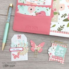 Carpe Diem Planner Setup by design team member Kelly Alexandra featuring the Bloom Collection