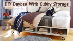 [Video] DIY Daybed With Cubby Storage   Http://www.diyscoop