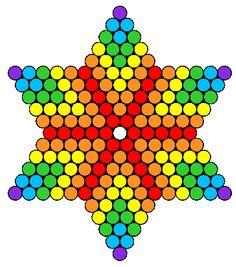 Rainbow_Star by Nicky on Kandi Patterns