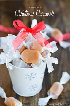 Soft, melt-in-your-mouth caramels made from scratch. The perfect holiday gift.