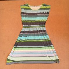 Loft striped cotton dress Perfect dress for just about anything! Comfortable, striped Loft dress. Elastic waist band for slightly bloused top. Sleeves are cap sleeve with a little pleating to add a cute detail. Worn handful of times. Great condition. LOFT Dresses Mini