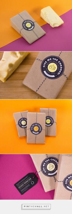 Give Me The Cheddar! (Student Project) – Packaging of the World – Creative Pack… Give Me The Cheddar! (Student Project) – Packaging of the World – Creative Package Design Gallery – www. Dairy Packaging, Cheese Packaging, Food Packaging, Design Packaging, Product Packaging, Cheese Design, Cheese Store, Queso Fundido, Logo