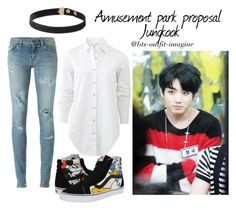 """""""jungkook amus park proposal"""" by ewaporter ❤ liked on Polyvore featuring Vans, Yves Saint Laurent and rag & bone"""