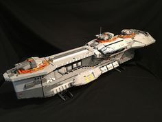Massive Homeworld destroyer in LEGO bricks