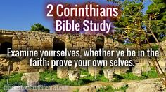 2 Corinthians Bible Study section. Come here for some revelation into the Word of God, and understanding behind this wonderful book of the New Testament!