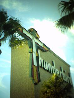 Thunderbird Lodge, Treasure Island, Signage, Neon Signs, Explore, Deco, Billboard, Decor, Deko