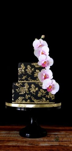 Cake by Cake Heart | Black & Gold Toile | May 2015