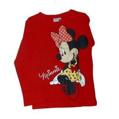 T-shirt  Minnie - manches longues - rouge