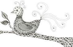 Tangle Trance: Zentangle Journey Day 13 - bird of paradise
