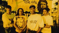 "Rage Against the Machine. ""Killing in the Name"", ""Testify"", ""Bulls on Parade"", ""Bullet in My Head"", ""Guerrilla Radio""."