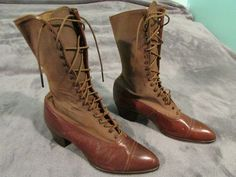 WWI Vintage Nurse Red Cross Women's Army Boots