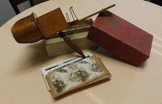 Antique Keystone Paragon Stereoviewer Stereoscope Stereocards Birdseye Maple | eBay